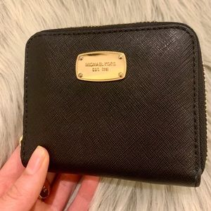 Micheal Kors Black Leather wallet